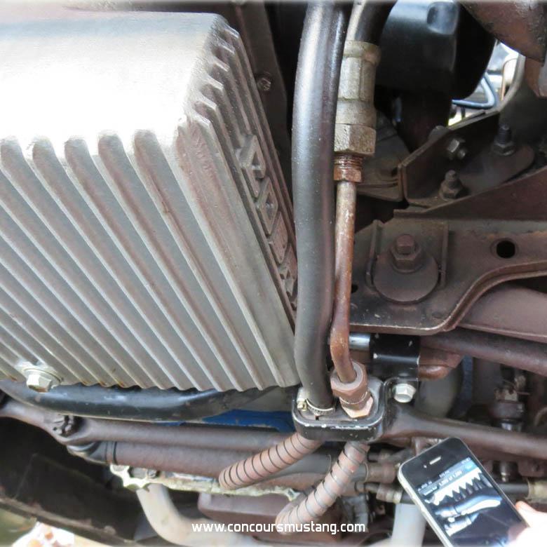 1967 1968  Mustang Power Steering Hose Bracket